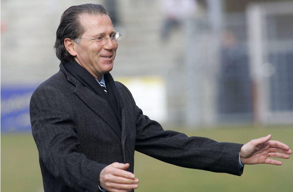 Walter Kelsch im Jahr 2008 – damals Präsidiumsmitglied der Stuttgarter Kickers. Foto: Baumann