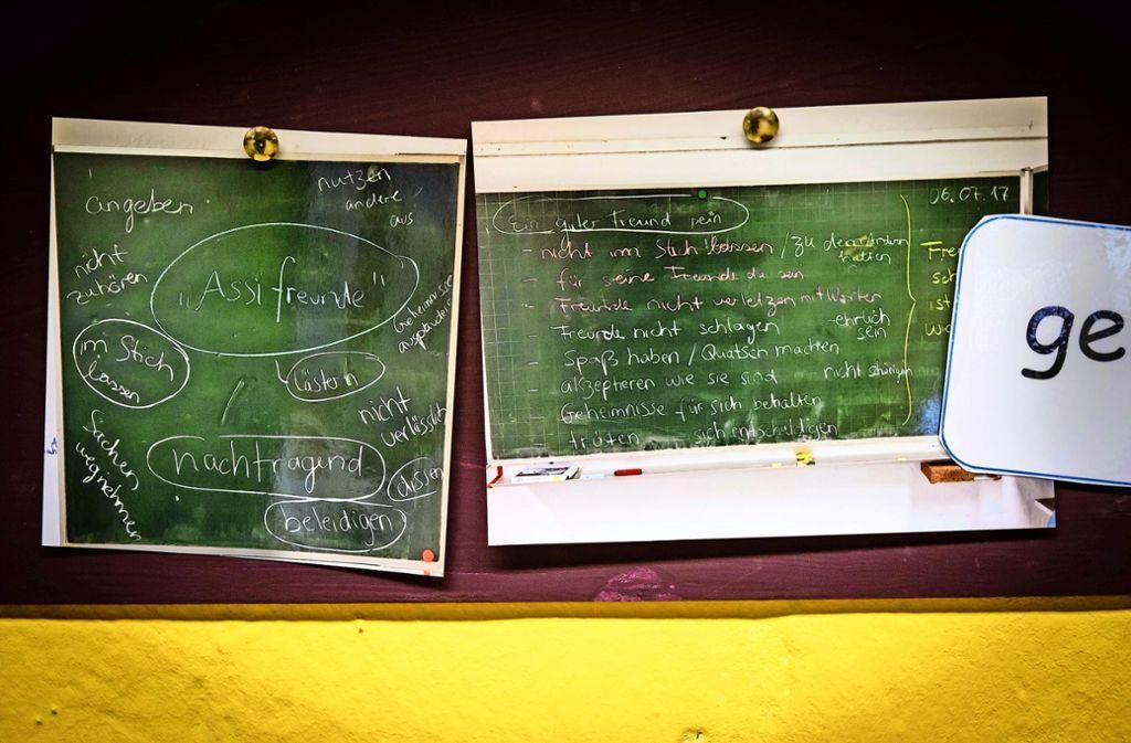 Was sind gute, was sind schlechte Freunde? Auch das lernen die Schüler an der Albert-Schweitzer-Schule. Foto: Lichtgut/Achim Zweygarth