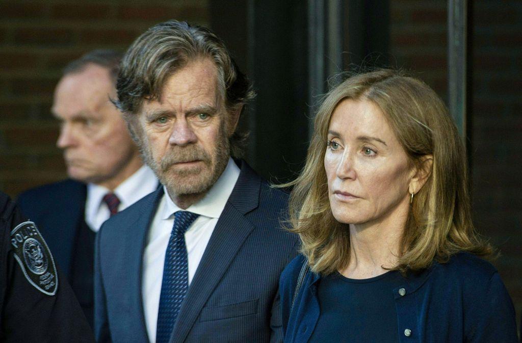 Felicity Huffman und ihre Ehemann William H. Macy. Foto: AFP/JOSEPH PREZIOSO