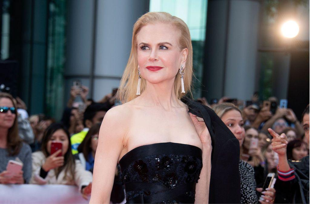 Nicole Kidman zeigte sich auf dem Toronto International Film Festival ganz in schwarz. Foto: AFP