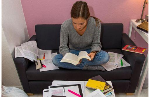 Die Angst der Studenten vor der Prüfung