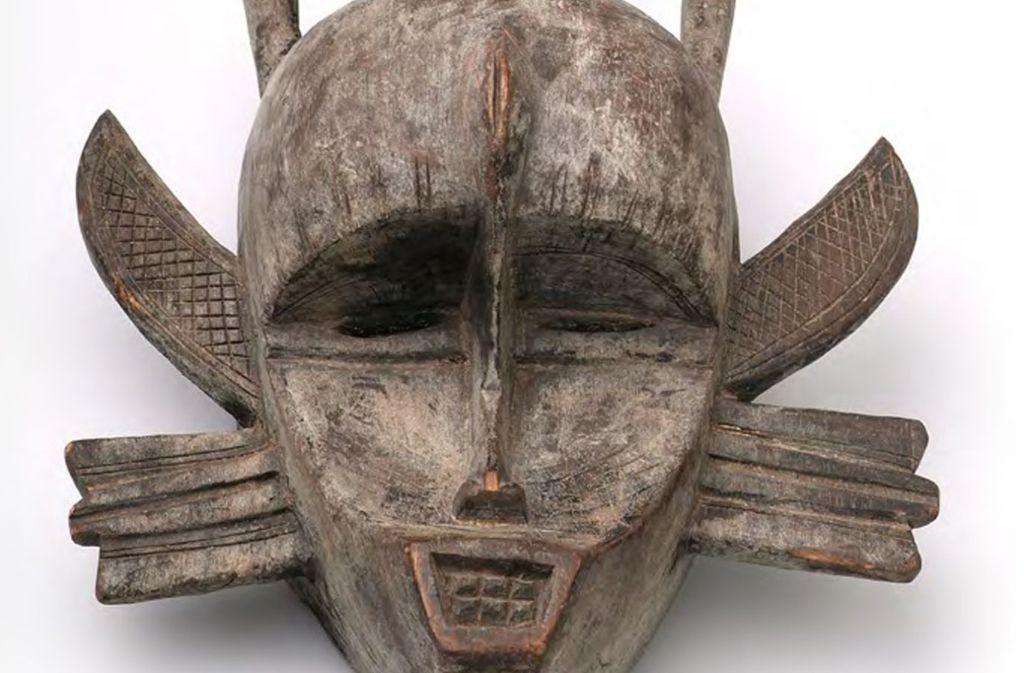 Die einzige in Marbach aufbewahrte afrikanische Maske Maske stammt aus der Sammlung des Soziologen Norbert Elias. Foto: DLA