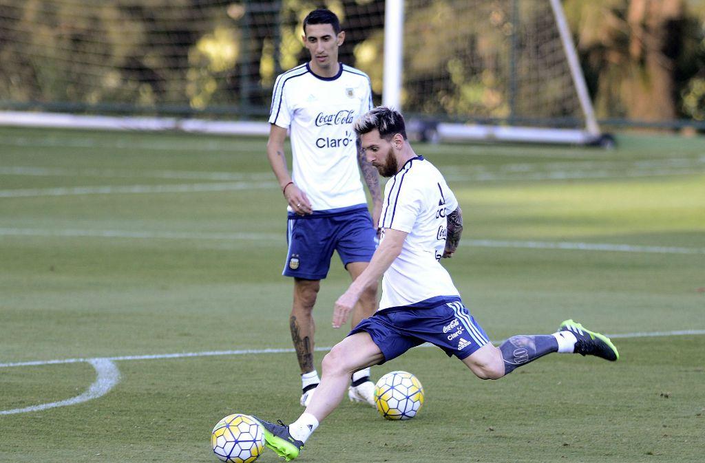 Nicht zu übersehen: Messi und sein neues Tattoo. Foto: AP