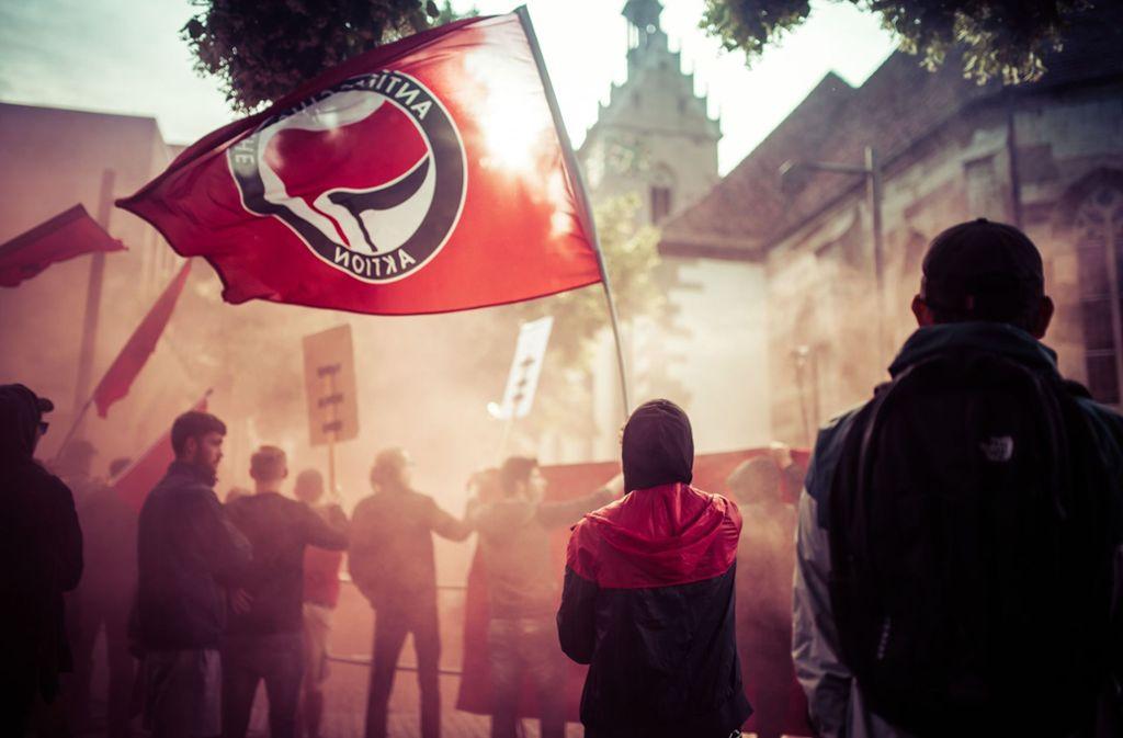 Die Antifa ist in Stuttgart und der Region sehr aktiv und trommelt jetzt für Proteste auf dem Marienplatz. (Archivbild) Foto: 7aktuell.de/Gerlach