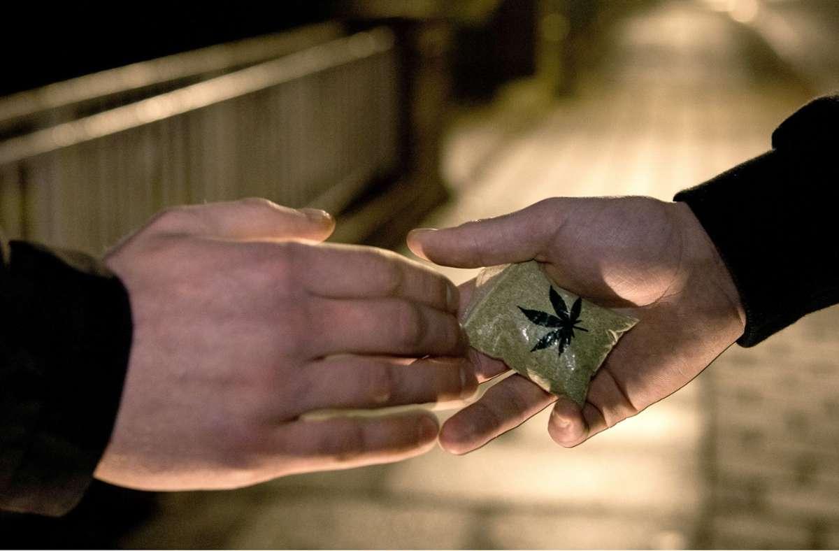 Die Polizei fand bei dem Mann rund sechs Gramm Marihuana (Symbolbild). Foto: dpa/Ingo Wagner