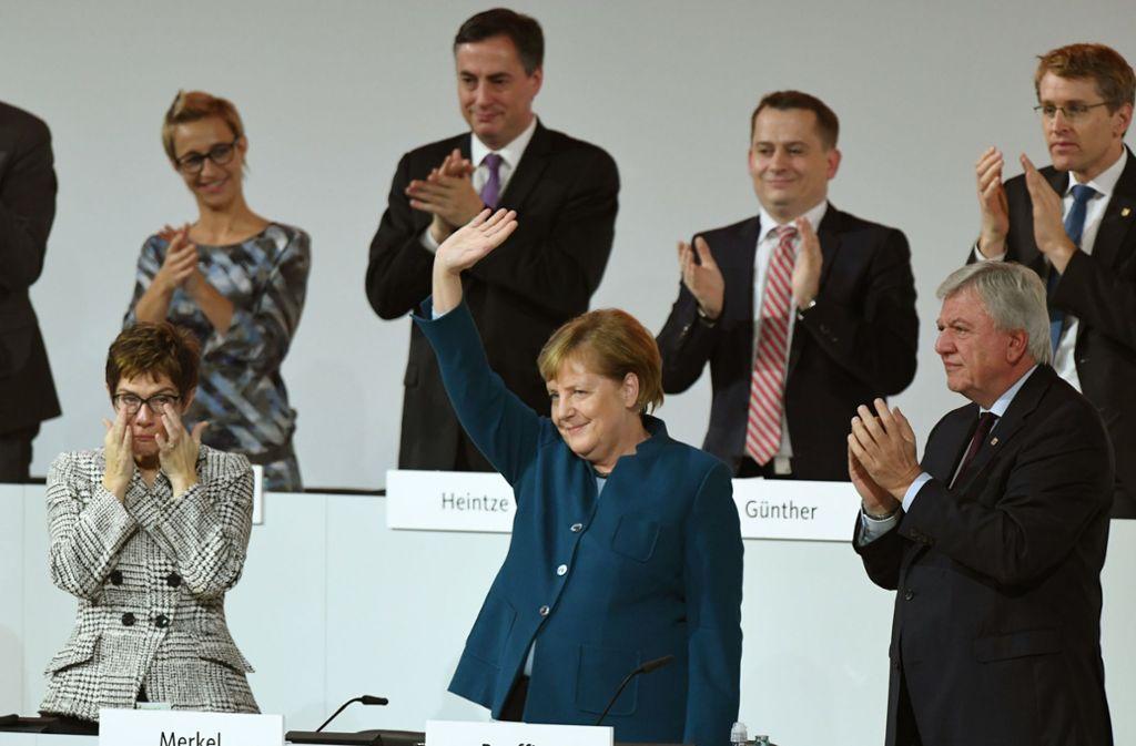 Minutenlang ist Angela Merkel auf dem CDU-Parteitag beklatscht worden. Foto: dpa
