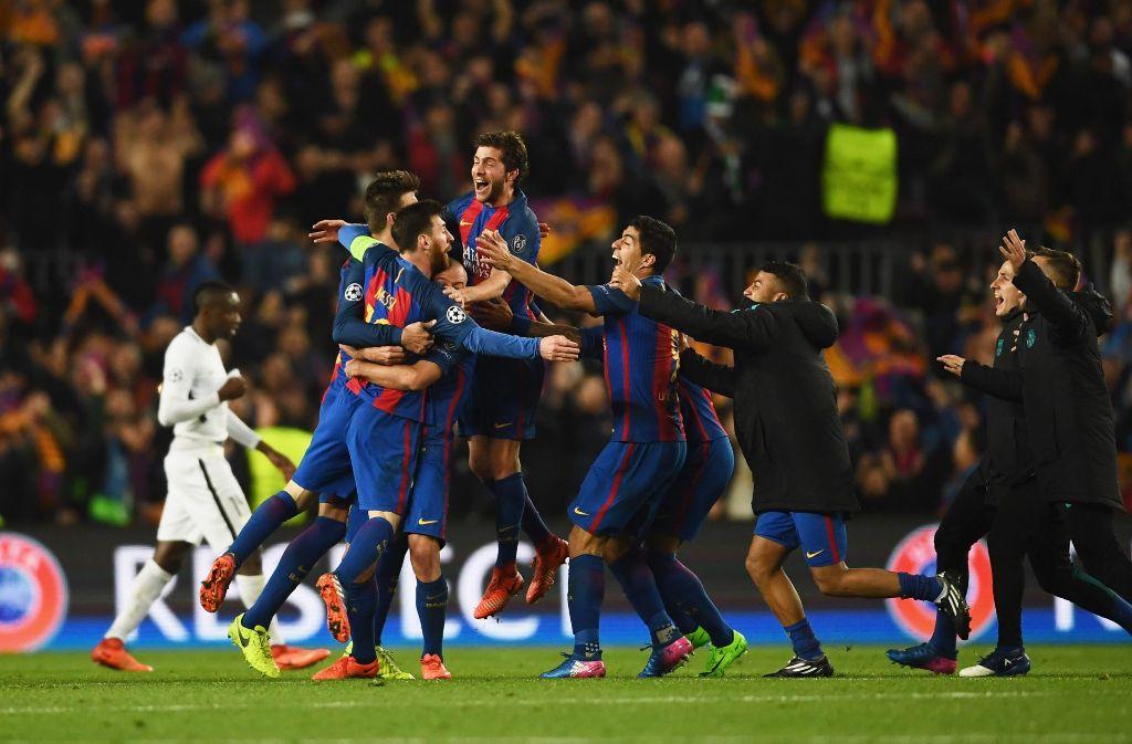 Jubel am Ende eines Spiels, das schon jetzt eine Legende ist Foto: Getty Images Europe