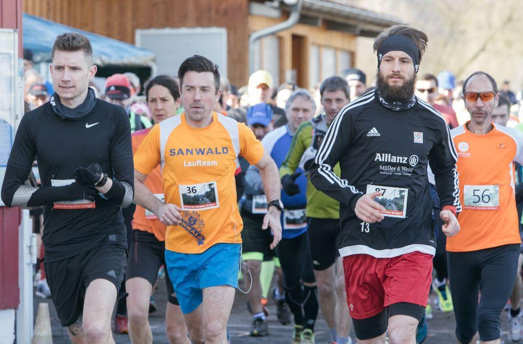 86 Läufer nahmen beim Marathon am Neckarufer teil. Foto: Lichtgut/Verena Ecker
