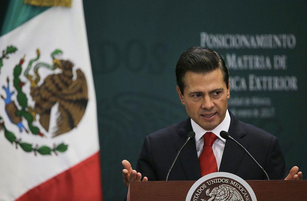 Ausgeladen: US-Präsident Trump droht das Treffen mit mexikanischen Staatschef Peña Nieto abzusagen, falls Mexico es weiterhin ablehnt, den Mauberbau zu finanzieren. Foto: AP