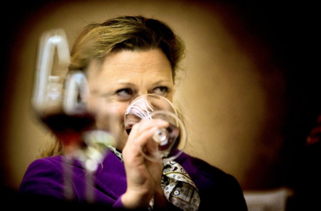 Die Weinexpertin bei der Präsentation der edlen Tropfen Foto: Gottfried Stoppel
