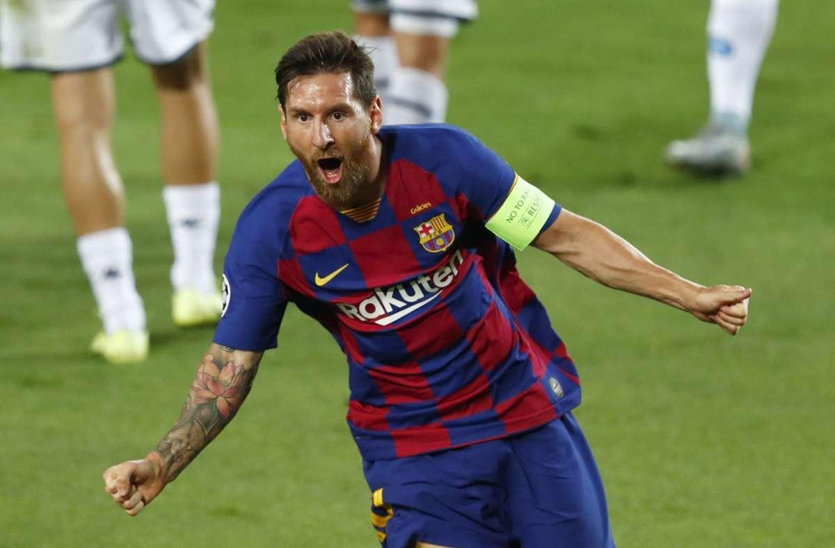 Ein Grund zur Freude: Lionel Messi ist in FIFA 21 der beste Spieler im Spiel. Foto: dpa/Joan Monfort