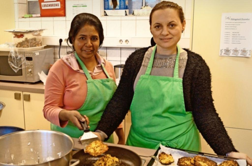 Sivarubi Kugathas (links) und Sherife Dermaku sind ein eingespieltes Team. Foto: