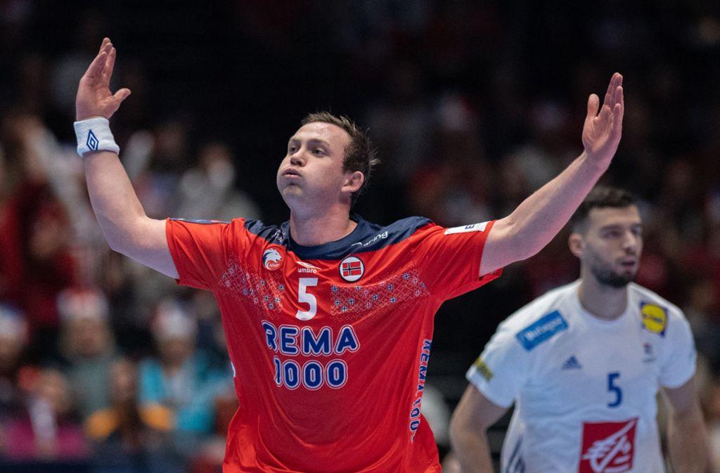 Auf dem besten Weg zum MVP dieser EM: Norwegens Star Sander Sagosen. Foto: dpa/Robert Michael