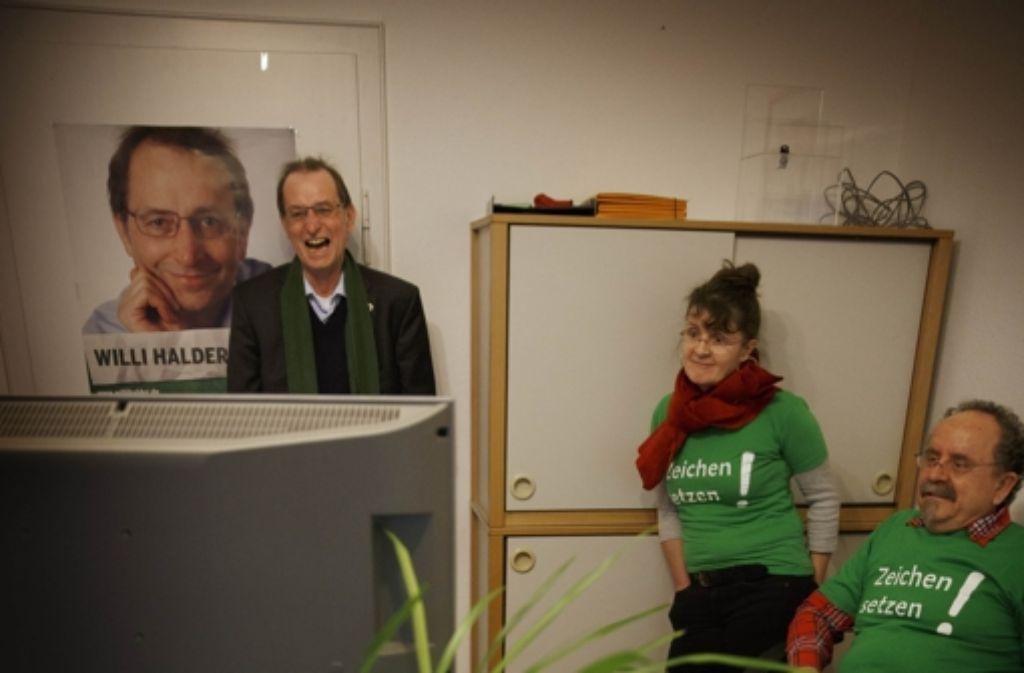Grün – hier Willi Halder – hat gut lachen. Foto: Gottfried Stoppel