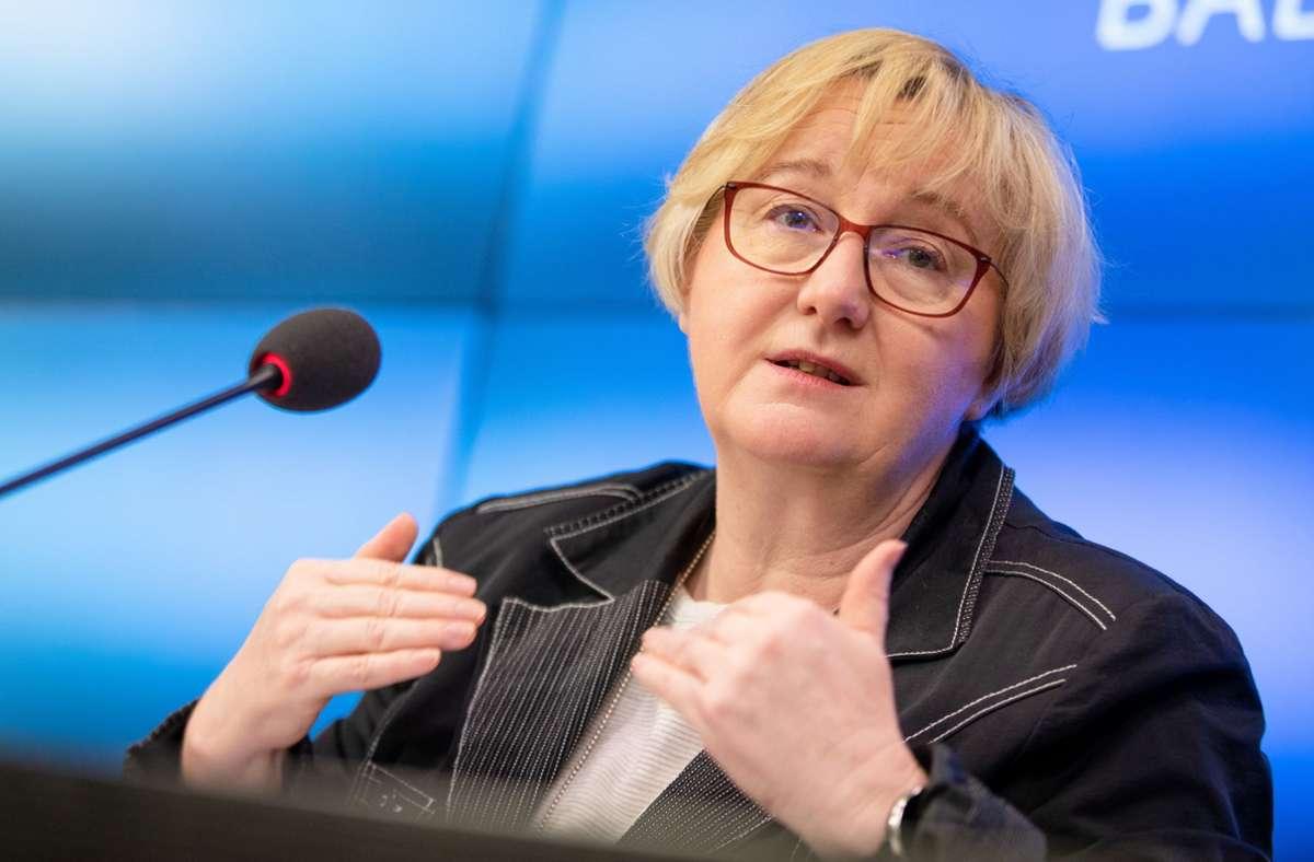 """""""Ich hoffe auf eine breite gesellschaftliche wie politische Unterstützung"""", sagte Wissenschaftsministerin Theresia Bauer (Grüne) am Mittwoch. Foto: dpa/Christoph Schmidt"""