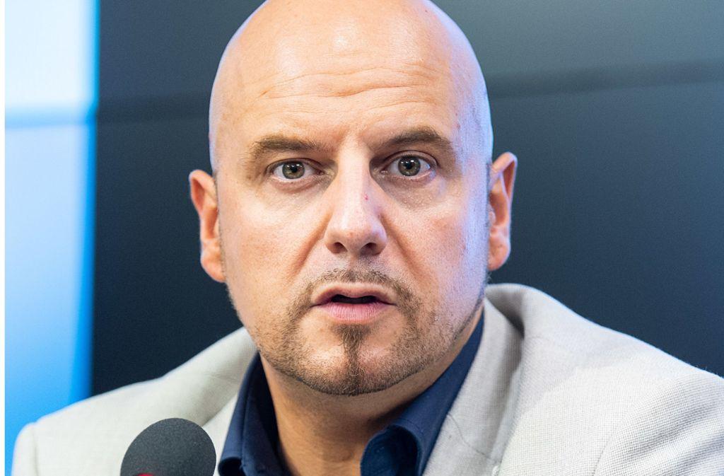 Stefan Räpple fiel immer wieder durch Provokationen auf. Foto: picture alliance/dpa/Sebastian Gollnow
