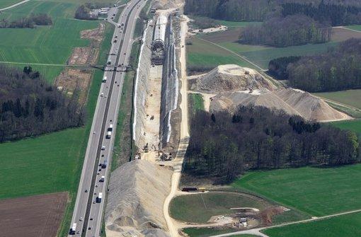 Die Neubautrasse kommt voran, bei Merklingen soll ein neuer Bahnhof entstehen. Foto: DB