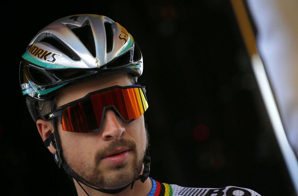 Der slowakische Weltmeister Peter Sagan wurde von der Tour ausgeschlossen. Foto: AP