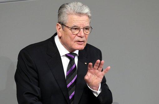 Gauck reist aus Solidarität nach Kiew