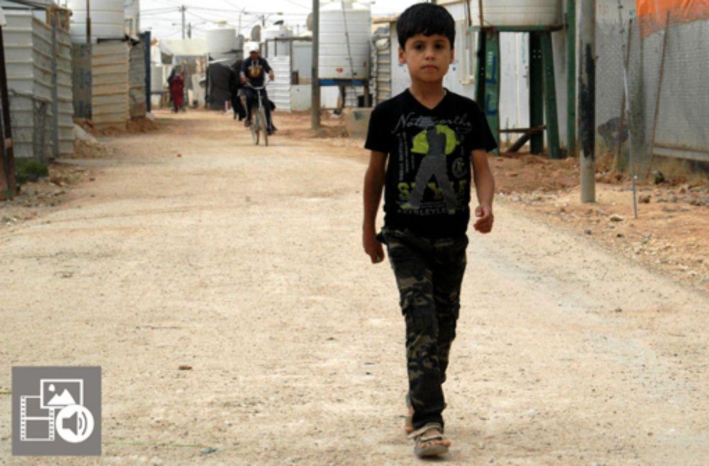 Zaatari ist das größte Flüchtlingslager der arabischen Welt. Klicken Sie auf den Button, um unsere Multimediareportage zu sehen. Foto: Krohn