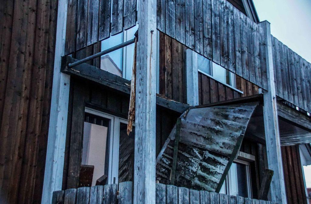 In Göppingen ist ein Balkon eingestürzt. Foto: SDMG
