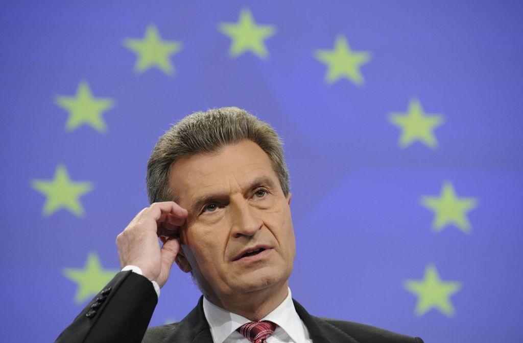 Berlin-EU-Kommissar Günther Oettinger Foto: AFP