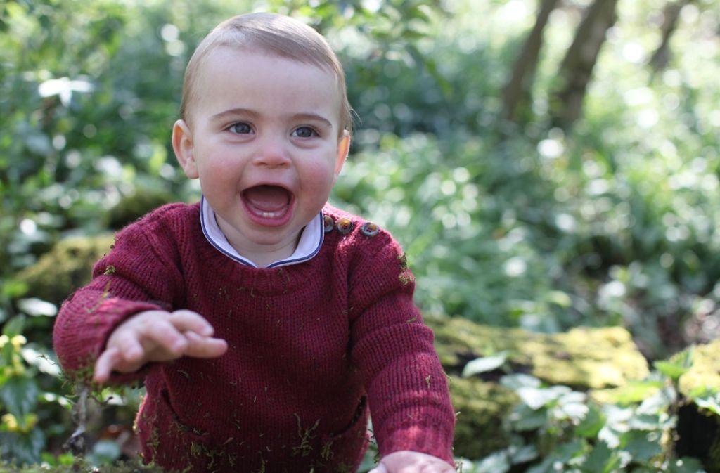 Dieses Bild von Prinz Louis ist kurz vor seinem ersten Geburtstag entstanden. Foto: dpa/Duchess Of Cambridge