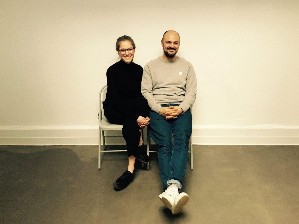 Valerie Hoffmann und Daniele Ferrazzano im Oben Studio, das ab Samstag für alles offen ist. Foto: Tanja Simoncev