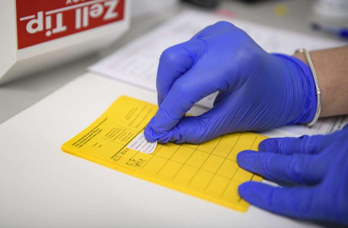 Der gelbe Ausweis der Weltgesundheitsorganisation gilt in der Übergangszeit Foto: dpa/Christopher Neundorf