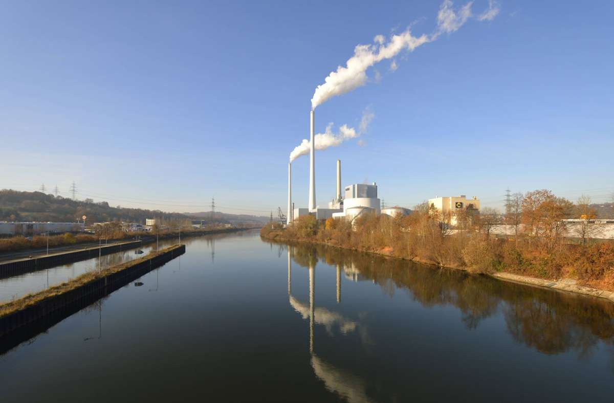 Das Kohlekraftwerk Altbach/Deizisau im Landkreis Esslingen. Foto: imago stock&people/imago stock&people
