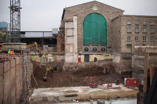Die S21-Baustelle im Januar