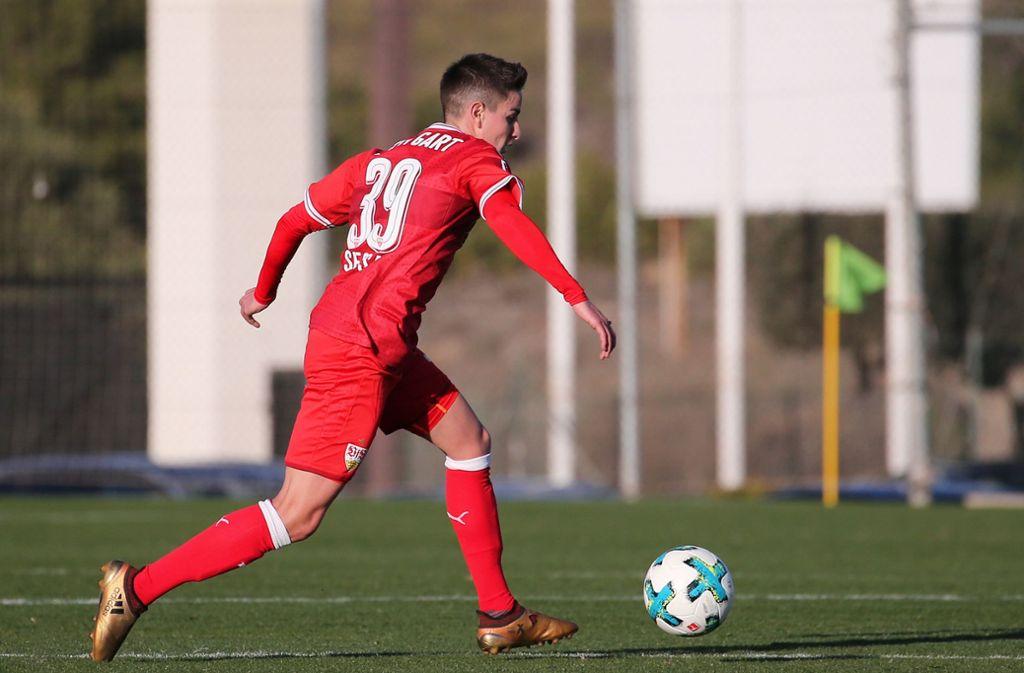 Nicolas Sessa spielt beim VfB Stuttgart II. Foto: Baumann