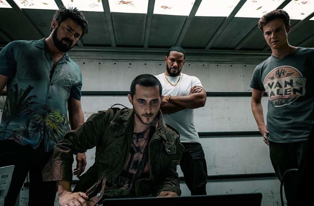 Die Jungs bei der Arbeit: Karl Urban, Tomer Capon, Laz Alonso   und Jack Quaid (von links) Foto: Amazon