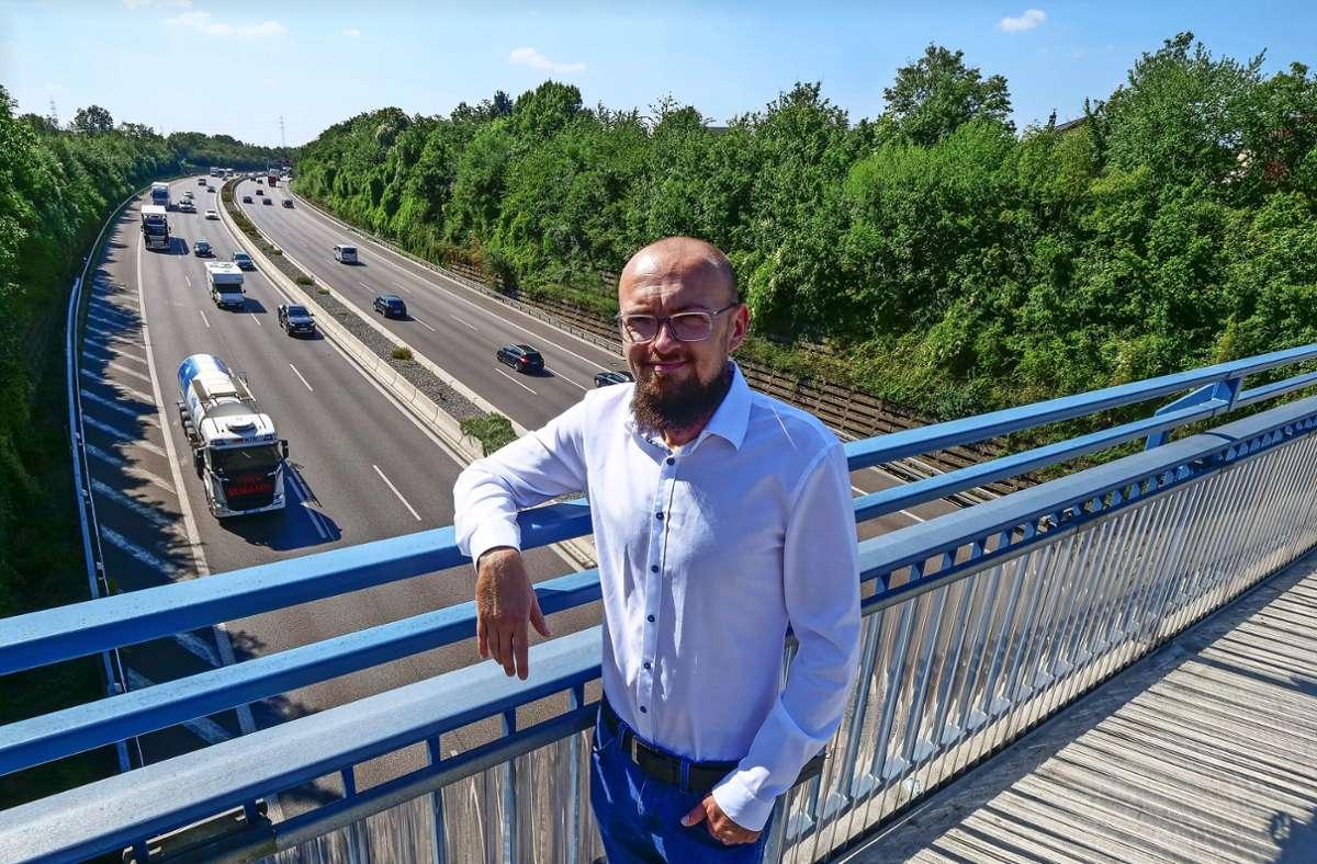Marcel Distl befürwortet Projekte wie den Autobahndeckel   bei Freiberg. Foto: Simon Granville