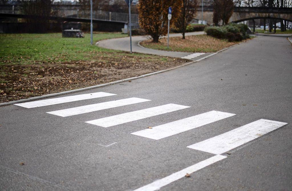 Eine Frau und drei Kinder wollten einen Zebrastreifen überqueren, als sie von einem Auto angefahren wurde. (Symbolbild) Foto: dpa