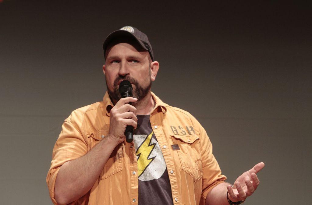 Manchmal gibt der Comedian Dodokay auch einen fiktiven Sanitärausstatter. Foto: factum/Bach