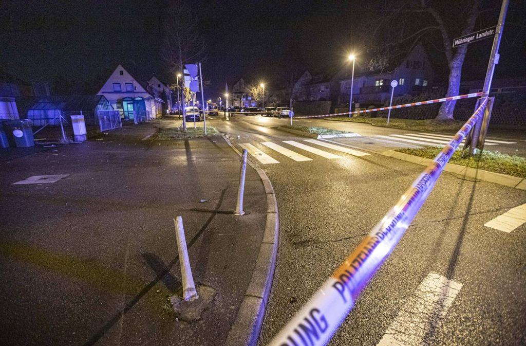 Die zum Unfallort gerufenen Polizisten können den 32-jährigen Angreifer nur mit einem Schuss stoppen. Foto: 7aktuell.de/Simon Adomat/Simon Adomat