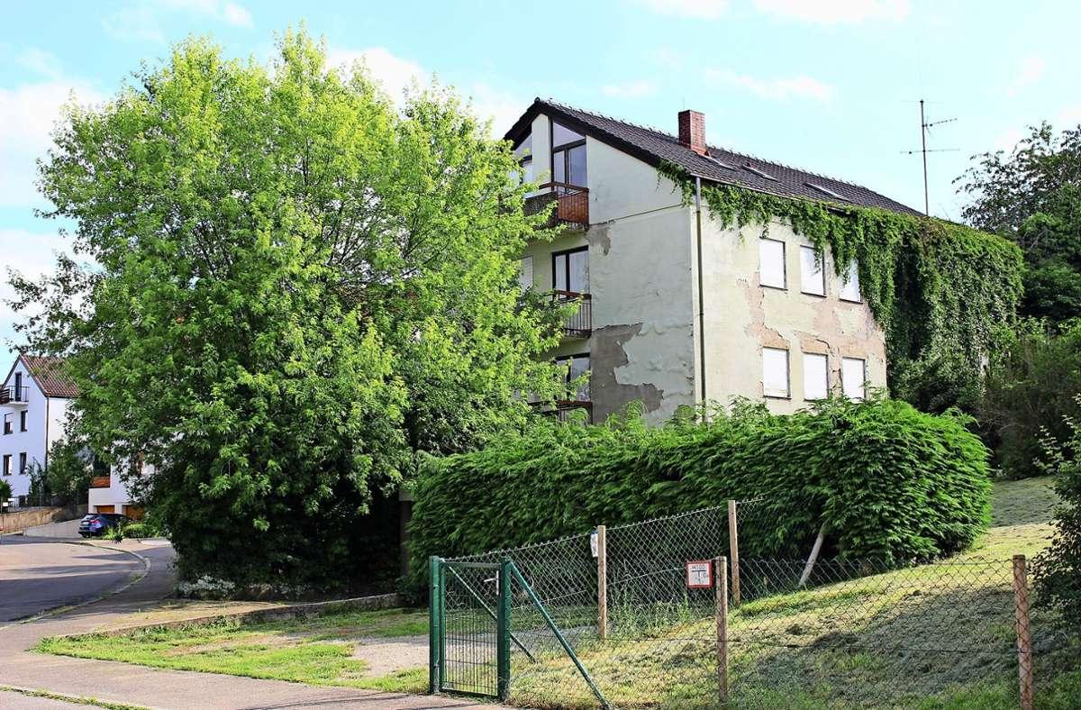 Dieses Vier-Parteien-Haus am Lauxweg in Heumaden steht seit mehreren Jahren leer. Foto: Caroline Holowiecki