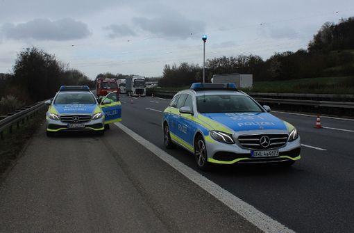 A81 in Richtung Heilbronn nach tödlichem Unfall zeitweise voll gesperrt