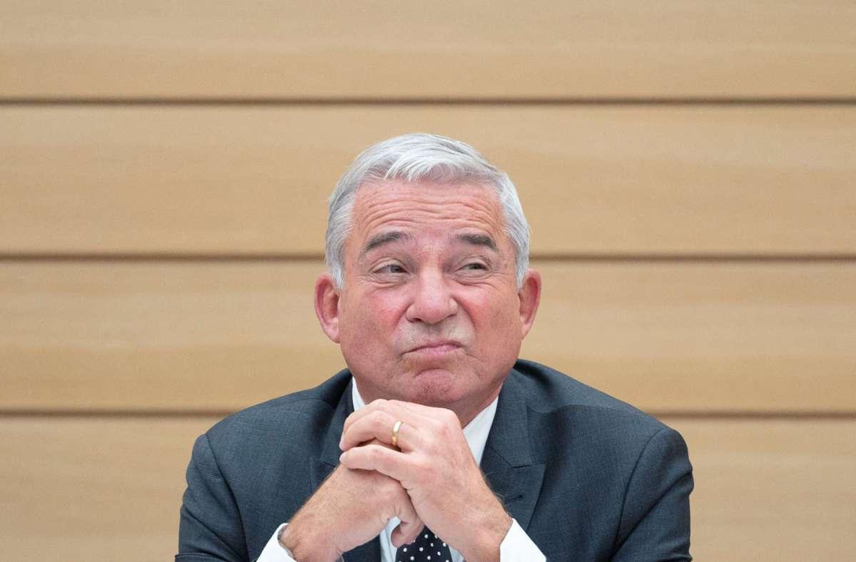 Der CDU-Landesvorsitzende Thomas Strobl während einer Landtagssitzung: seine Partei muss herbe Umfrageverluste hinnehmen. Foto: dpa/Marijan Murat