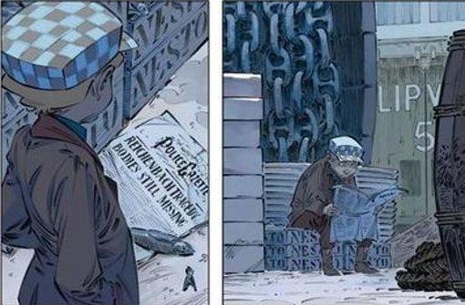 Der Detektivgehilfe Billy Fletcher verfolgt in der Londoner Presse die Suche nach dem verschwundenen Sherlock Holmes. Als armer Schlucker muss er aber warten, bis er eine weggeworfene Zeitung findet. Foto: Splitter