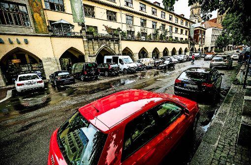 Auch die Parkplätze an der Markthalle sollen wegfallen. Foto: Lichtgut/Leif Piechowski