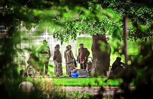 Roma übernachten wieder im Schlossgarten
