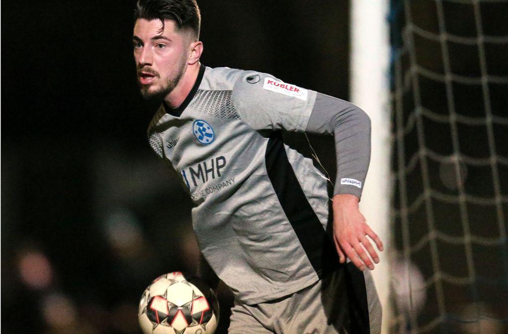 Das Bild täuscht: Nikola Trkulja ist von den Stuttgarter Kickers nicht als Torwart verpflichtet worden, sondern als Mittelfeldspieler. Foto: Baumann
