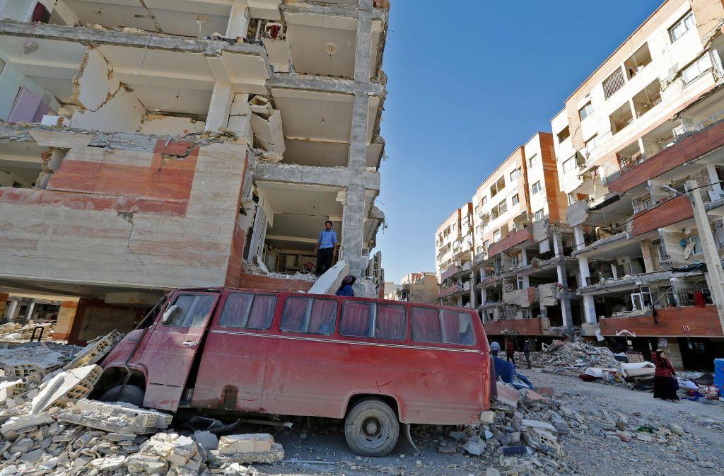 Das Erdbeben forderte mehr als 500 Menschenleben. Foto: AFP