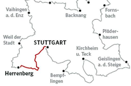 Durch den Wald nach Herrenberg