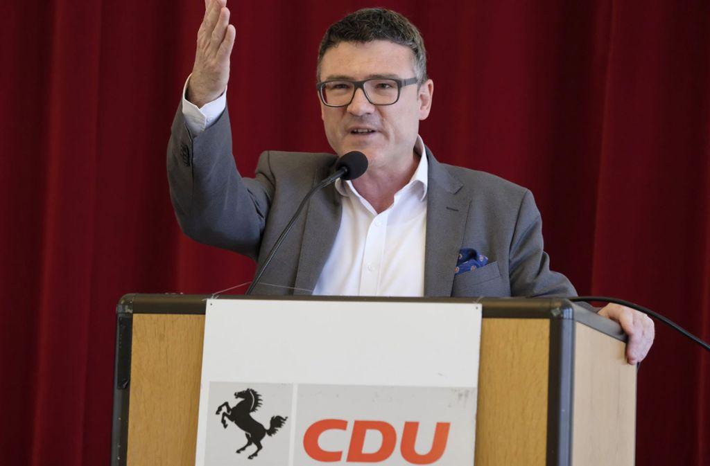 Stefan Kaufmann wird nachgesagt, er wolle antreten. Der Bundestagsabgeordnete ist auch Kreisvorsitzender – und bei der Suche nach einem OB-Kandidaten kommt man an ihm vielleicht schwer vorbei. Foto: Lichtgut/Michael Latz