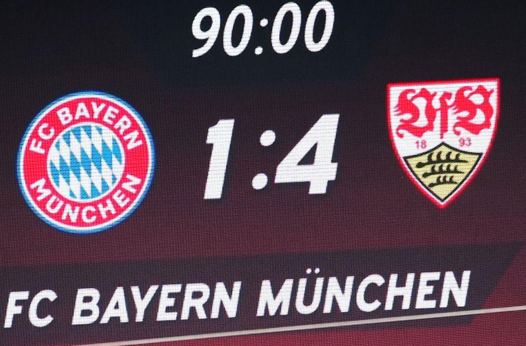 Einen besseren Saisonabschluss hätte die Saison 2017/2018 wohl kaum haben können: Der VfB besiegte am 34. Spieltag die Bayern in München. Foto: Pressefoto Baumann