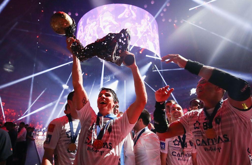 Diego Simonet und Montpellier gewannen im vergangenen Jahr die Handball Champions League. In diesem Jahr droht das dritte Final Four ohne deutsche Beteiligung in Folge. Foto: Getty