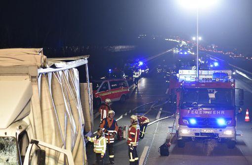 Lastwagenfahrer nach Unfall schwer verletzt